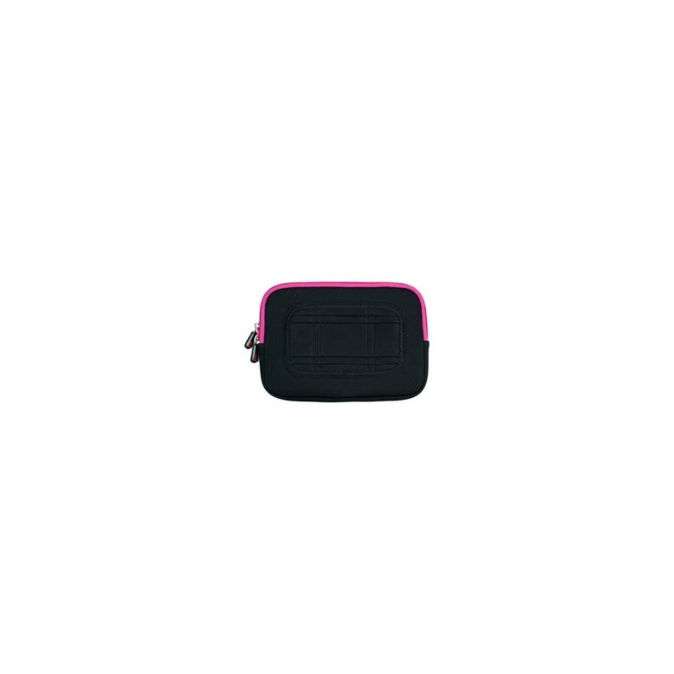 Acer Aspire One AOD257 D257 13473 10.1 Inch Netbook Laptop Neoprene Sleeve Case with Internal Hidden Pocket, Color Black / Magenta + NuVur ™ Keychain (ND10MSM1) Computers & Accessories