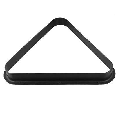 Dimart Black Plastic Triangle Billiard Pool Table 8 Balls Rack