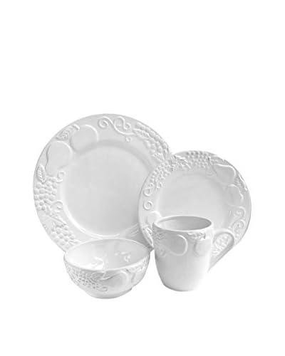 American Atelier 16-Piece Frutta Dinnerware Set, White