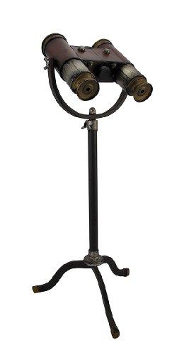 Benzara Classic Style Free Standing Binoculars With Old Look Brass