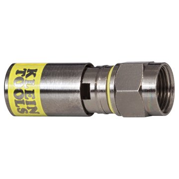 Klein Tools Vdv812-612 Universal Compression Connector, Rg6/6Q, Male, 50-Pack