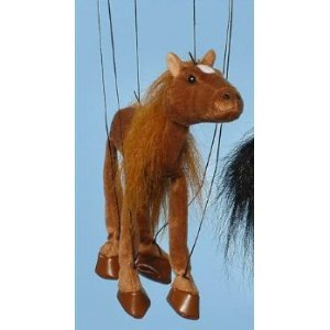 Horse (Brown) Small Marionette by Sunny Puppets