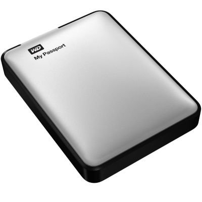 WD My Passport USB 3.0 High Capacity Portable Hard Drive for Mac - Silver