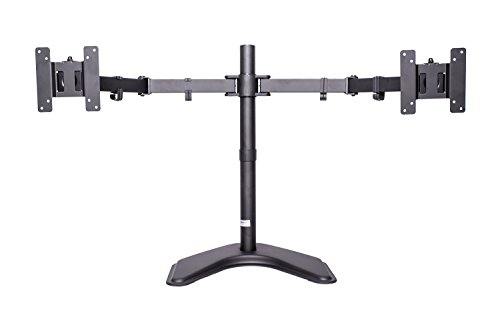 MonMount Dual LCD Free Standing Monitor Mount for Up to 24