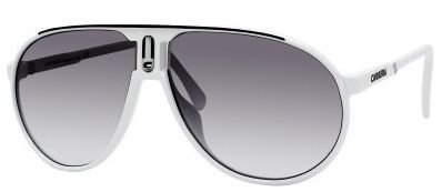 Carrera CHAMPION (0CCPJJ) White Black w/ Gray Shaded Lens 62mm
