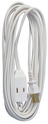 Master Electrician 09414ME 15-Feet Cube Tap Extension Cord, White