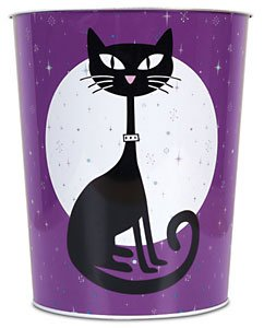 Black Cat Wastebasket
