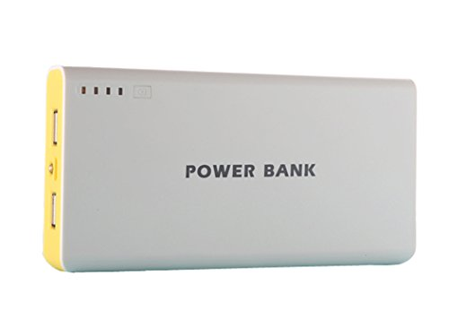 Generisches 50000mAh External Power Bank Backup-Dual-USB-Ladegerät für iPad, iPad 2/3, iPhone 5, iPhone 4, iPhone 4S, iPod, Blackberry, HTC, Android, Samsung (gelb)