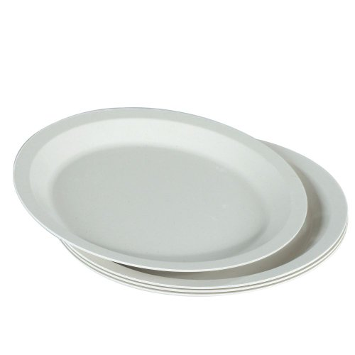 "Nordic Ware 60070FS White 10"" Microwave Safe 4 Piece Dinner Plate Set"