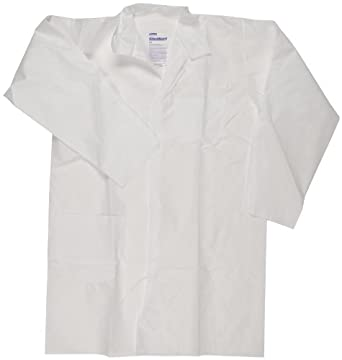 Kimberly-Clark 10029 KleenGuard A20 Breathable Particle Protection Lab Coats Large White (25 per Case)