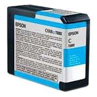 EPSON Cartouche encre T580200 - Cyan - 80ml + Papier ramette Goodway - 80 g / m² - A4 - 500 feuilles .