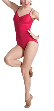 Buy Body Wrappers Camisole Shirred-In Leotard BLACK 8-10 by Body Wrappers