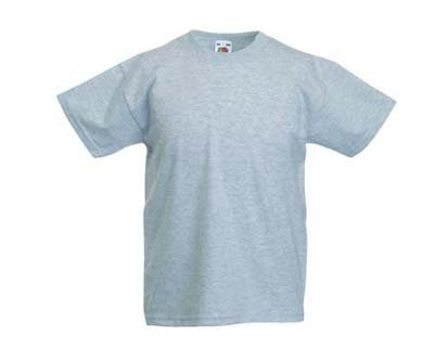 Kinder T-Shirt Valueweight; graumeliert,164 164,graumeliert
