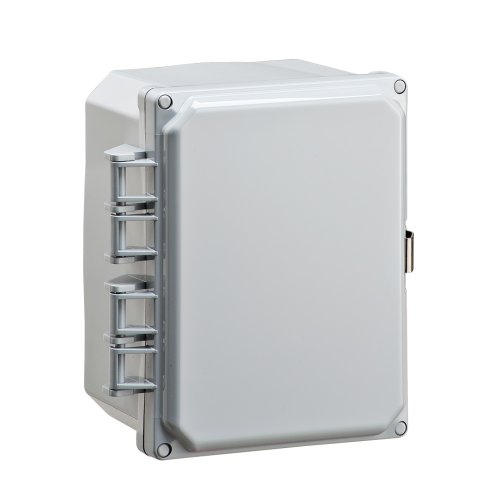 """Integra H8064Hll Premium Line Enclosure, Hinged, Locking Latch Cover, Opaque Cover, Mounting Feet, 8"""" Height, 6"""" Width, 4"""" Depth"""