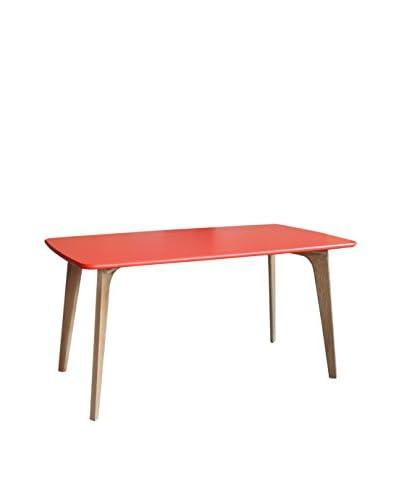 Gallerie Décor Vista Rectangle Table, Orange