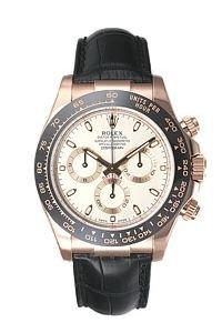 Rolex Daytona Mens Rose Gold Watch Chocolate Dial Black Leather Strap 116515 LN Unworn Box & Papers