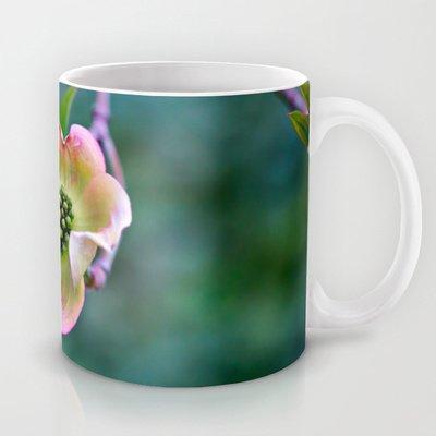 Society6 - Light Yellow & Pink Dogwood Coffee Mug By Lindsay Faye