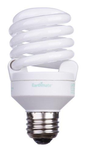 Earthmate E2P052AK 20-Watt Super Mini-Spiral CFL 2700K Bulb, 6 Pack