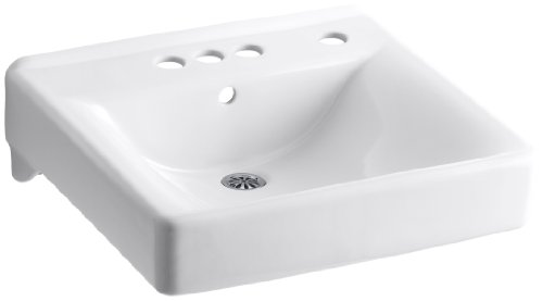 "Sale!! Kohler K-2054-R-0 Soho Wall-Mount Lavatory with 4"" Centers and Right-Hand Soap/Lotion Di..."