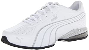 PUMA Men's Cell Surin Cross-Training Shoe,White/White/PUMA Silver,10.5 M US