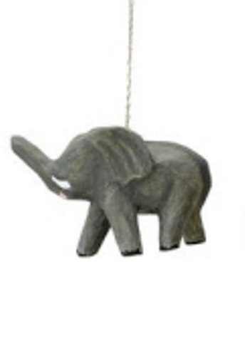 Creative Co-Op Paper Mache Safari Animal Ornament, Choice Of Animal (Elephant)