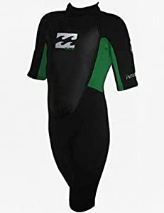 Billabong Junior Intruder 2mm Shorty Wetsuit Blk/Apple Green G42B04