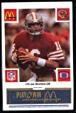 img - for San Francisco 49ers McDonald's 1986 Football Cards (Blue Tab) 75 Cards book / textbook / text book