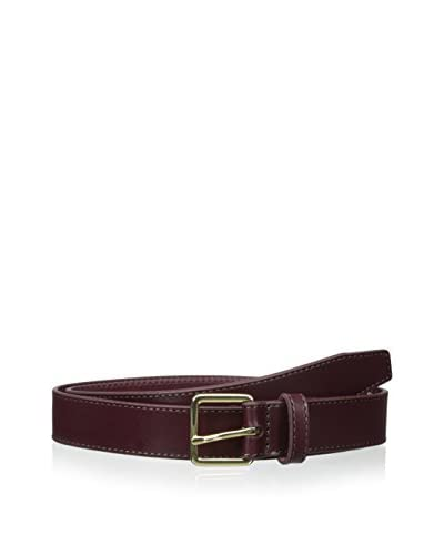 Isaac Mizrahi Men's Sorentino Leather Belt with Pop Stitch
