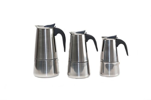 Maxware Stainless Steel Stovetop Espresso Maker, 9 Cups
