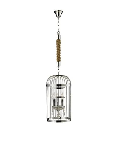 CDI Furniture Extra Small Bird Cage Chandelier, Chrome