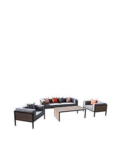 AE Outdoor Manhattan 4-Piece Deep Seating Set, Grey