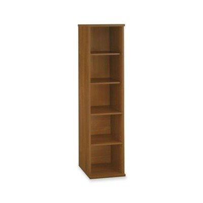 Open Face Single Bookcase w Adjustable Shelves - Series C Bush Furniture 4 Shelf Bookcase