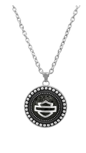 Harley-Davidson Ladies Lava Jawan .925 Silver Necklace (18 Inches)
