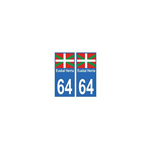 64-Euskal-Herria-autocollant-plaque