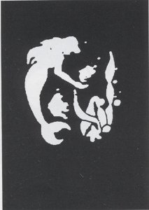 Stencil Mermaid Fish Stnless