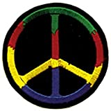 Hippie Peace Symbol Sign Logo Embroidered Iron On Patch