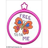 Bucilla Mini Counted Cross Stitch Kit, 3 by 3-Inch, 45427 Butterfly