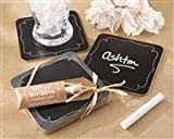 """Sip and Scribble"" Chalkboard Coasters (Set of 4)"