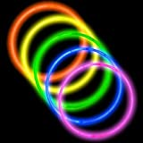 "CoolGlow Educational Products - 50 22"" Premium Glow Stick Necklaces Assorted Colors Glowsticks - 6mm thickness, most others use 5mm"