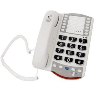 Plantronics 53500.001 Clarity C35 Amplified Corded Telephone (White)