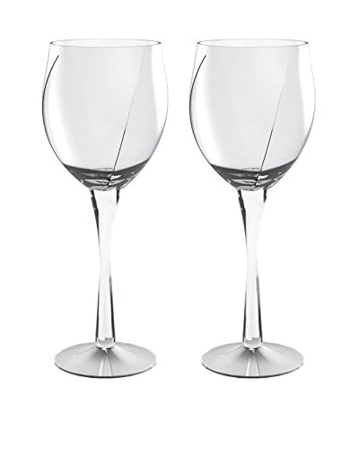 Nambe Crystal Set of 2 Twist 16-Oz. Goblets, Clear