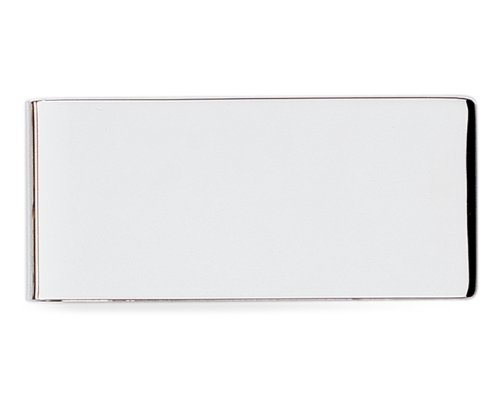 Plain Silver Polished Engravable Money Clip
