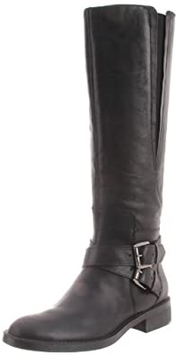 Enzo Angiolini Women's Sporty Boot,Black Leather,5 M US