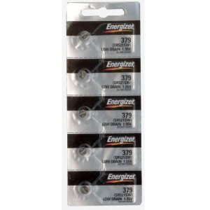 Energizer 379 Button Cell Silver Oxide Sr521sw Watch Battery (1 Pack of 5 Batteries)