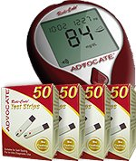 Image of Advocate Redi-Code Plus Talking Glucose Meter Kit w/ 50 Test Strips (B00A0SN7SE)