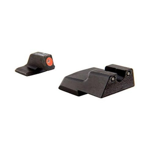 H And K Trijicon P30/45C Hd Front Outline Night Sight Set, Orange