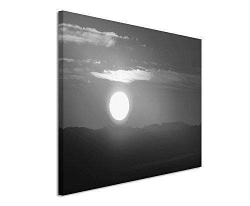 50x70cm Leinwandbild schwarz weiß in Topqualität Sonnenuntergang Afrika I