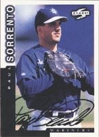Paul Sorrento Seattle Mariners 1997 Score Autographed Hand Signed Trading Card. by Hall+of+Fame+Memorabilia