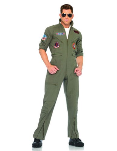 Top Gun Flight Suit Xlg Adult Mens Costume