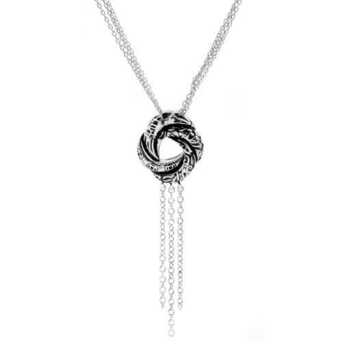Bond Girl Algerian Love Knot Necklace (With Back) - Petite